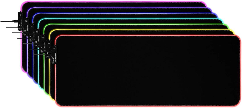JHKJ RGB Große Anti-Rutsch-Maus-Farbauflage RGB-Laptop-Mauspad für Gamer,RGB,790x300x5mm B07MNJ6XBH   | Großartig