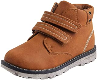 Hopscotch Kittens Boys Synthetic Solid Ankle Length Boots in Tan Color