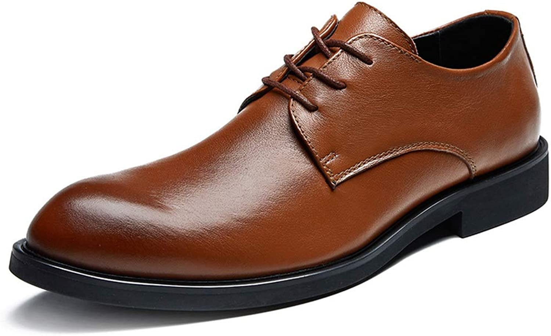 EGS-schuhe Herrenschuhe Flache Sohlenschuhe Lederschuhe Herrenschuhe Business Casual Herren Lederschuhe,Grille Schuhe (Farbe   Braun, Größe   42)