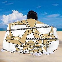 "Peceeta Fear is Reaction Courage is a Decision Round Beach Towel Blanket Skirt Tassels Mandala Blanket Yoga Mat Bohemian Style 61"" D"