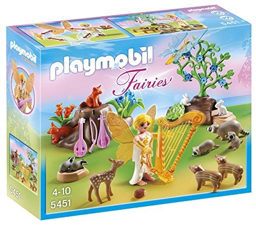 PLAYMOBIL Hadas - Hada de la música con Animales del Bosque, Juguete Educativo, Multicolor, 25 x 7,5 x 20 cm, (5451)