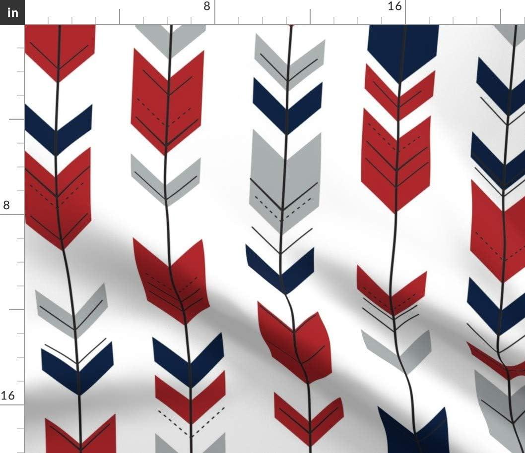Spoonflower Fabric - Fletching Arrows Gray Modern Red Nurs Arrow Special Houston Mall sale item