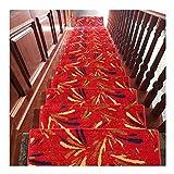 Treppenteppiche Bunte Treppenstufen 24x65cm Schritt Teppich Pads rutschfeste Flur Runner Rot Und Blau 18mm LQHZWYC (Color : C, Size : 10 Pieces Set)