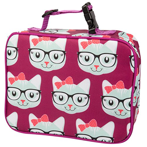 Bentology Lunch Box for Girls - Kids Insulated Lunchbox Tote Bag Fits Bento Boxes - Kitty