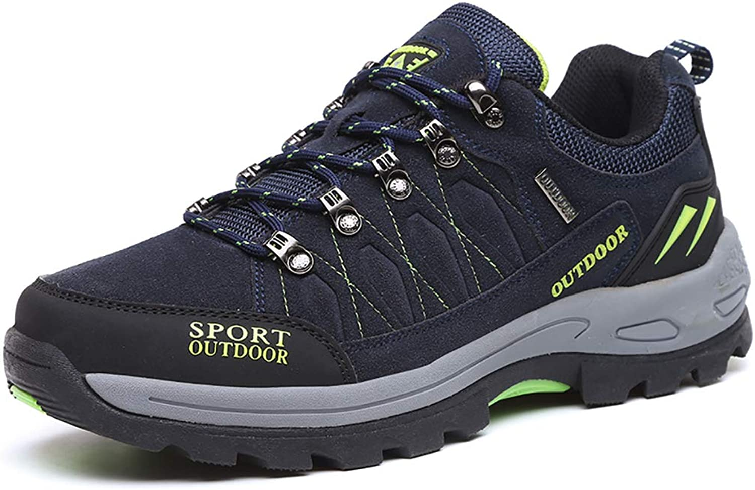 LXJL Men's hiking shoes non-slip sneakers hiking boots suede leather waterproof breathable lightweight shoes hiking running rock climbing outdoor,b,45