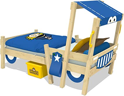 WICKEY Cama de la policía CrAzY Sparky Fun Cuna 90x200 Cama para jugar con somier de madera