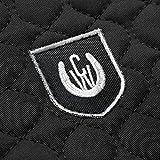 Lammfell Sattelpad Rand Ultra von CHRIST – Sattelkissen mit Fellrand + Wirbelsäulenfreiheit (kein Fell entlang des Wirbelkanals), Lammfellpad in weiß, schwarz und braun, Größe Pony & Warmblut