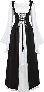 Womens Irish Medieval Dress Renaissance Costume Retro Gown Cosplay Costumes Fancy Long Dress