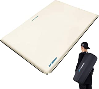 FUNDANGO Double Size Premium Luxury 2 inches Thick Durable Self-Inflating Damp-Proof Foam Sleeping Pad, Comfortable Campin...