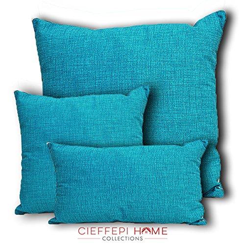 Cieffepi Home Collections Cuscino Arredo Multicolor (40x40, Turchese)