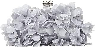 Fawziya Floral Clutch Purses For Women Satin Evening Bag
