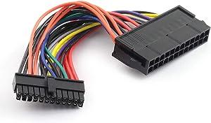 ZYAMY ATX 24 Pin Female to Mini 24 Pin Male Computer Power Cord ATX Main Power Adapter Cable 15cm