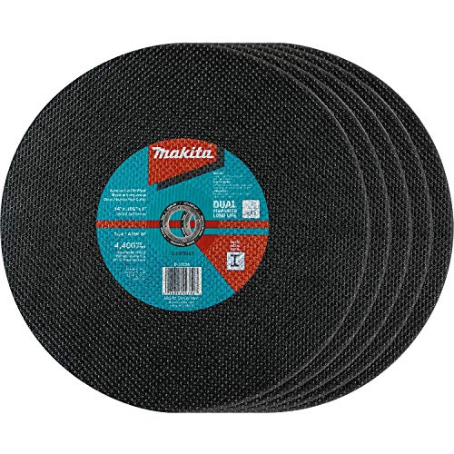 Makita B-57598-5 14' x 1' x 3/32' Abrasive Cut-Off Wheel, 5/Pk