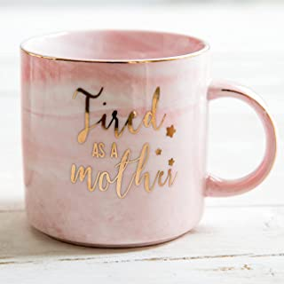 New Mom Gifts-Tired As A Mother Coffee Mug-Funny Christmas Birthday Gag Gifts for Mom or Wife From Daughter Son Husband