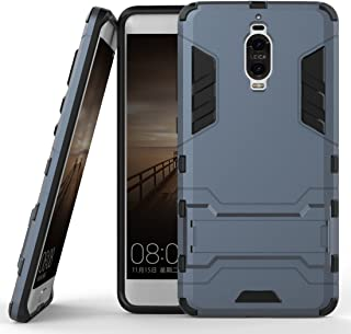 Case for Huawei Mate 9 Pro (5.5 inch) 2 in 1 Shockproof with Kickstand Feature Hybrid Dual Layer Armor Defender Protective Cover (Blue Black)