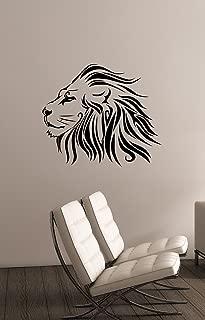 Lion Head Wall Sticker Vinyl Decal African Animal Art Decorations for Home Housewares Kids Living Room Bedroom Dorm Wildlife Decor ln16