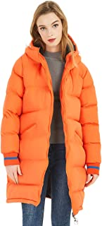 Women's Hooded Puffer Jackets Long Quilted Puffy Coats