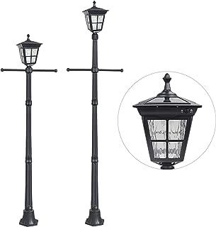 cast aluminum street lamp post