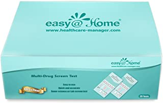 100 Pack Easy@Home 5 Panel Instant Drug Test Kits - Testing Marijuana (THC), OPI 2000, AMP, COC, MET/mAMP,- Urine Dip Drug Testing -#EDOAP-254