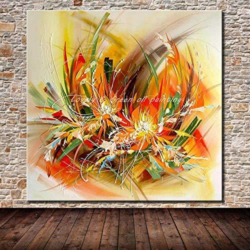 Peinture À L'Huile Sur Toile,100%Peint À La Main,Abstract Pop Élégante Belle Ligne,Art Abstrait Moderne Grand Décor Mural Acrylique Sans Encadrement Photos Salon Cadeaux Accueil Chambres Hô