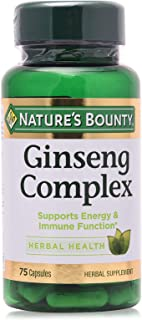 Nature's Bounty Ginseng Complex Plus Royal Jelly - 75 Capsules