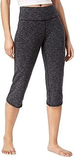 Ideology 女式七分瑜伽裤,黑色太空染色,XL 码