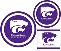 Kansas State Wildcats Party Supplies - Bundle Includes Paper Plates and Napkins for 10 People