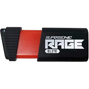 Patriot 256GB Supersonic Rage Elite USB 3.1 Type A, USB 3.0 Flash Drive with Transfer Speeds of Up to 400MB/sec