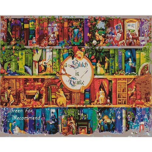 FVeng LIN Carpet Pintura al óleo por números Libro de Paisaje DIY decoración del hogar acrílico niños Pintura im imágenes por números Pintura Pintada a Mano 16x20 Inch