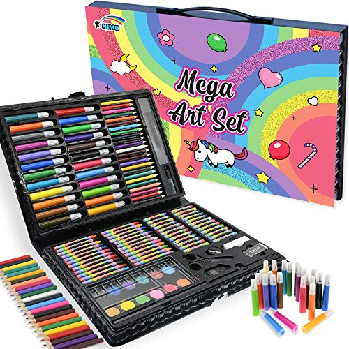 NIMU 120 Piece Deluxe Art Set, Art Supplies for Drawing, Painting and More,...