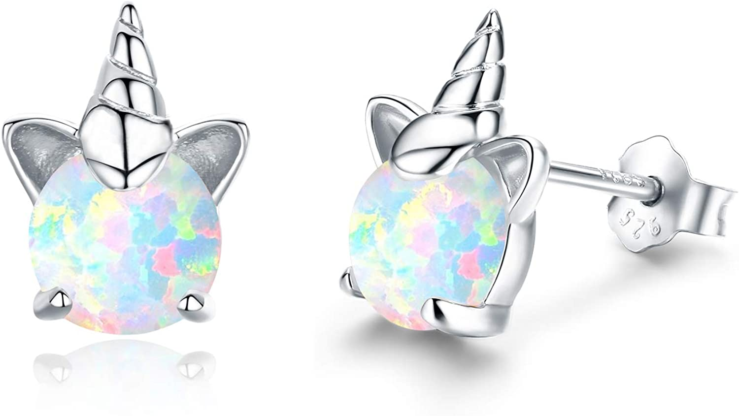 Hypoallergenic Unicorn Manufacturer direct delivery Earrings S925 Sterling Animal Max 58% OFF Silver Earr