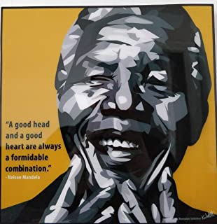 GLAGOODS Nelson Mandela South Africa Apartheid Hero Legend Music Icon Pop Art Canvas Framed Wall Art Prints Póster Vinilo Citas de Regalo