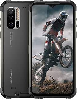 """ロック解除された頑丈な携帯電話、Ulefone Armor 7 IP68防水スマートフォン、48MPトリプルリアカメラ8GB + 128GBオクタコア6.3""""FHD +スクリーンAndroid 9.0 5500mAhバッテリーグローバルデュアル..."""