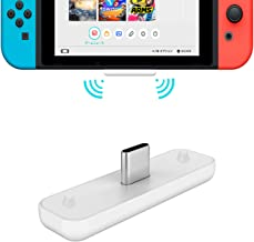 GuliKit Bluetooth Adapter for Nintendo Switch, PS4, PC; Route Air Audio Transmitter with USB TypeC Port; Wirelessly Connect Device to Bluetooth Headset, Supports All Bluetooth Headphones; White