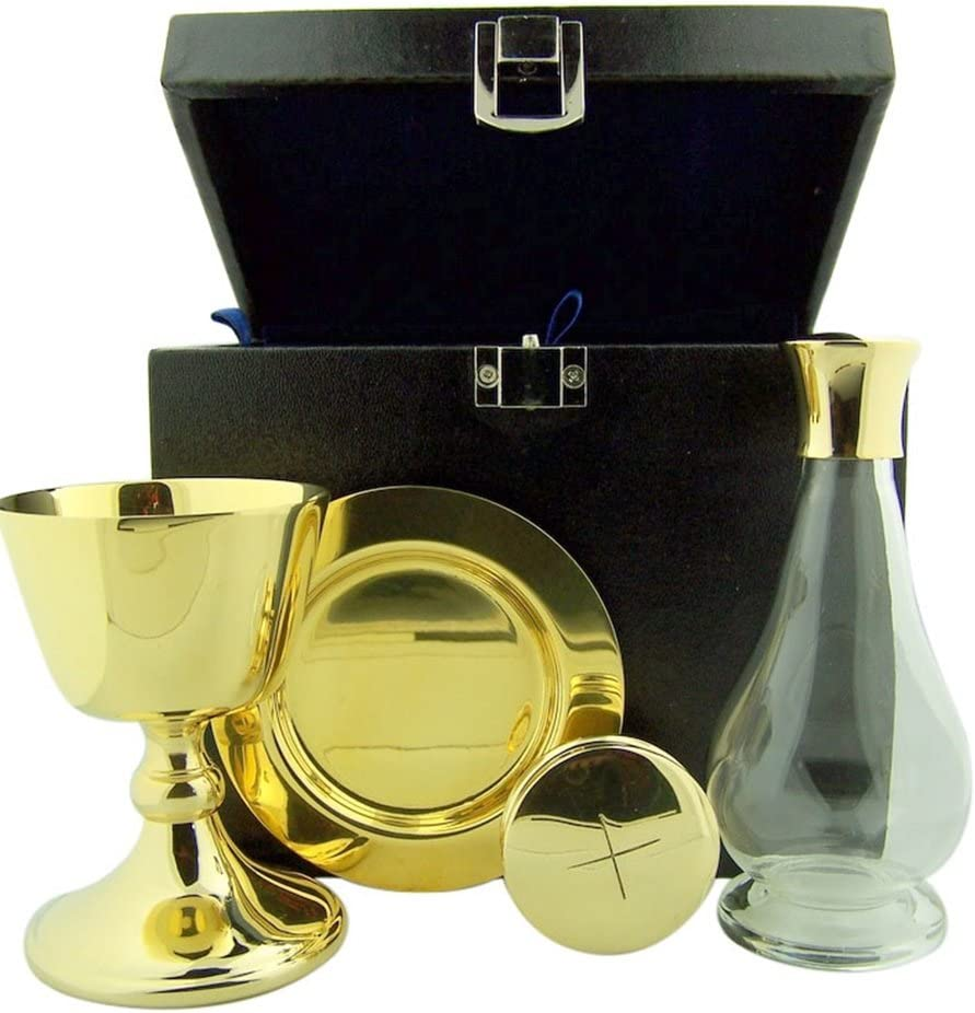 Cash special price Chalice Paten Pyx Holy Regular discount Water Case Trave Bottle Carrying Minister