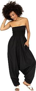 Harem Jumpsuit for Women & Cotton Harem Pants - Maxi...