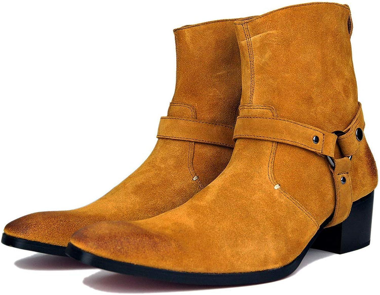 MALPYQ Oxford-Schuhe aus Leder, Klassische rote Unterhosen für Erwachsene, Mid-Tube-Cowboystiefel und geklebte Sohlen