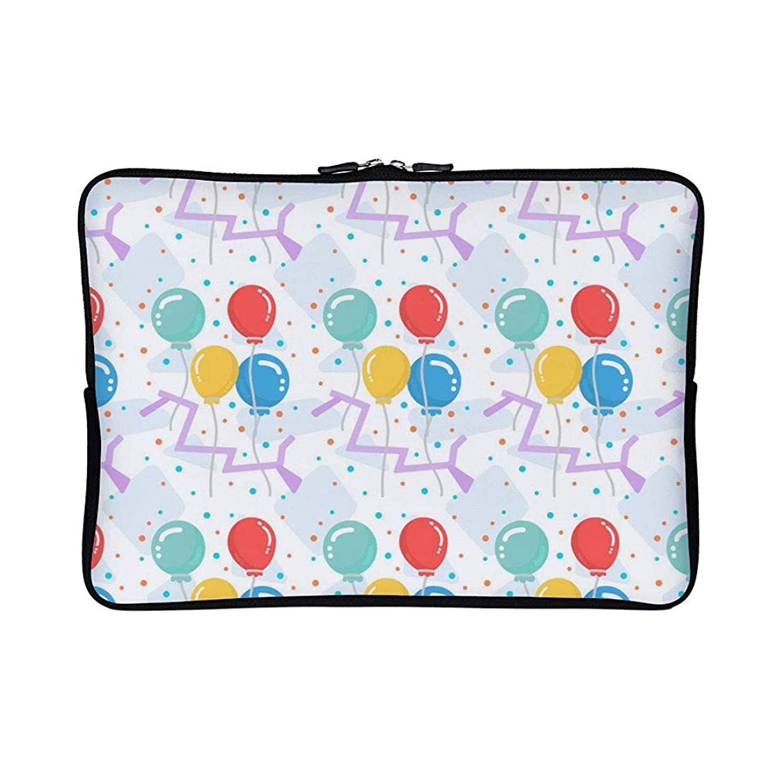 DKISEE Abstract Balloons Pattern Neoprene Laptop Sleeve Case Waterproof Sleeve Case Cover Bag 15 inch for MacBook/Notebook/Ultrabook/Chromebooks