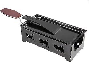 Mini Ra-clette Set, Réchaud de plateau de cuisson Rotaster à fromage antiadhésif Portable Ra-clette avec outil de grillage...
