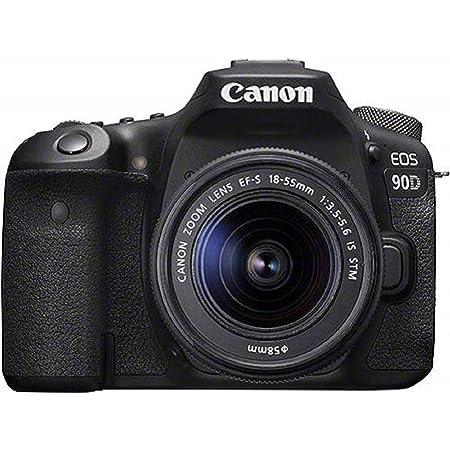 Canon EOS 90D - Cámara Réflex de 32.5 MP (Sensor APS-C, 45 Puntos AF, Disparos de 10fps, EOS Movie 4k+Full HD, Wi-fi, Bluetooth) Negro - Kit Cuerpo con Objetivo EF-S 18-55mm f/ 3.5-5.6 IS USM