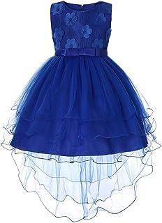 2a6cb16f98da0 BaZhaHei Robe Fille Ceremonie Dentelle Noeud Papillon Princesse Mariage  Pageant Anniversaire Enfant Fille Robe de Soirée