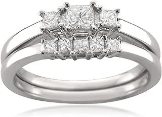 3 stone diamond wedding ring sets
