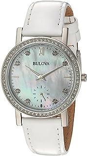 Bulova - Reloj Analógico para Mujer de Cuarzo con Correa en Cuero 96L245