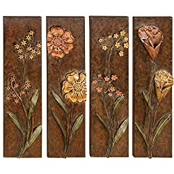 Deco 79 Metal Wall Decor Assorted Low Priced, Set of 4