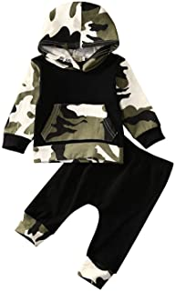 Infant Baby Boys Camouflage Hoodie Tops +Long Pants...