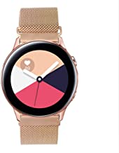 GOSETH Compatible with Samsung Galaxy Watch Active (40mm) Bands/Active2 (44mm) Bands, 20mm Mesh Stainless Steel Strap for ...