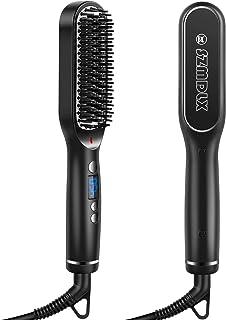 SZMDLX Hair Straightener Brush, Beard Straightening Comb, 30s Fast Heating, 5 Heat Levels, Anti-Scald, Auto Off, 360 Swive...