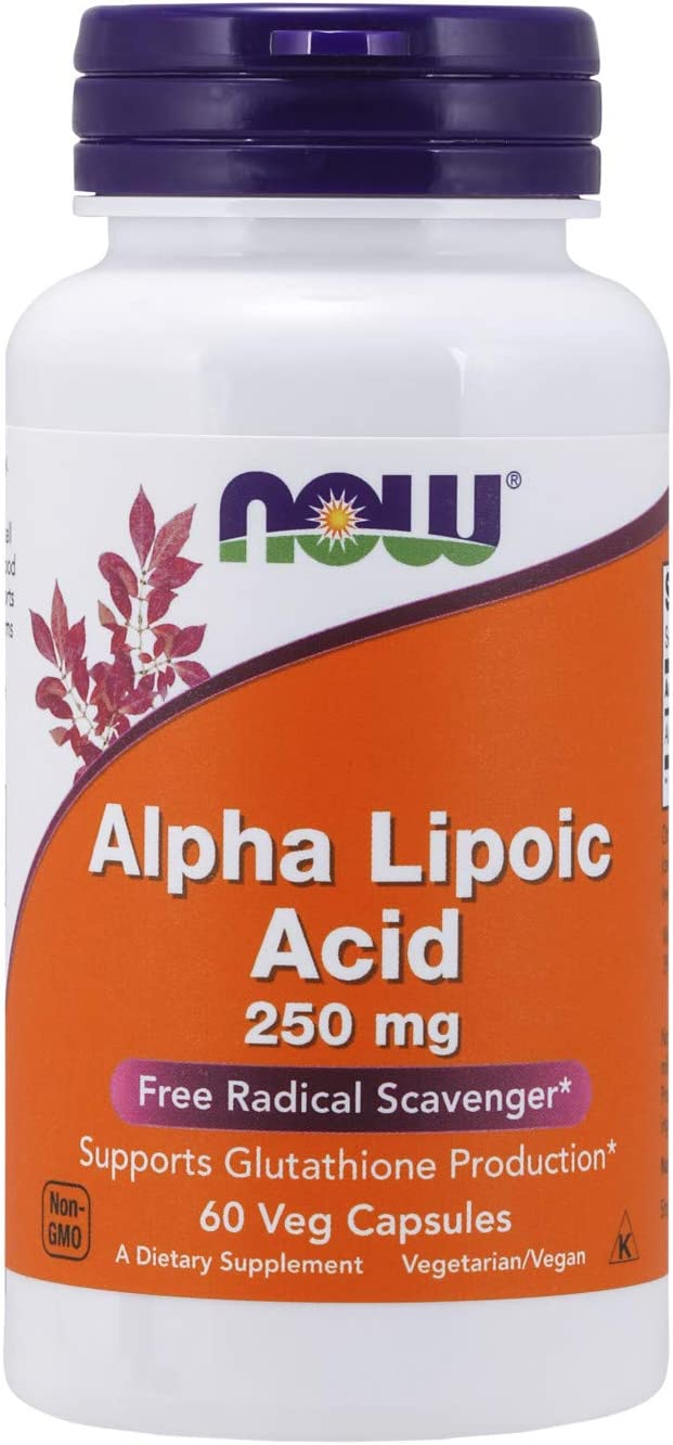 NOW Very popular Supplements Alpha 55% OFF Lipoic Acid mg Supports 250 Glutathione