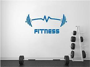 StickerDeen   Fitness Gewichten Hartslag Oefening Barbells Spier Motivationele Sport Club Gym Stijl Vorm Decoratie Verwijd...