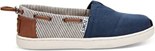 Bimini Espadrille (Little Kid/Big Kid) Navy Canvas/Stripes 2 Little Kid